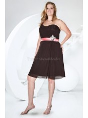 A-Linie normale Taille modernes legeres Cocktailkleid