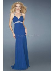Enganliegendes Empire Taille Nackenband formelles Ballkleid