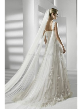 Strand A-Linie normale Taille formelles Brautkleid