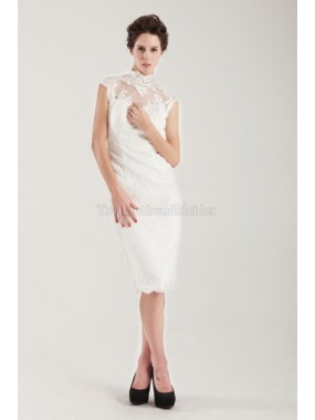Satin normale Taille knielanges modisches Brautkleid