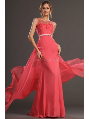 A-Linie Apfelform Sweep train Elegantes Ballkleid