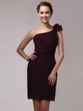 Elegante One Shoulder Abendkleider kurz