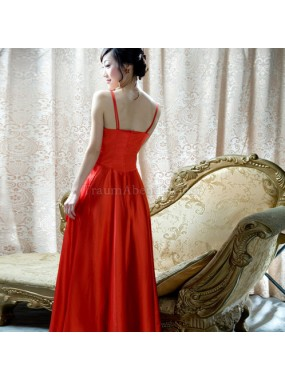 A-Line normale Taille Sweep train Elegantes Abendkleid