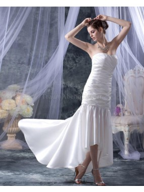 Tiefe Taile Sweep Zug sexy langes Brautkleid