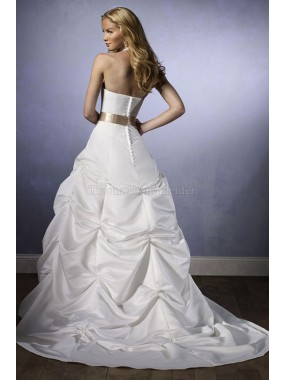 Satin pick up extravagantes sexy Brautkleid
