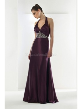A-Line Sweep train extravagantes Abendkleid mit Empire Taille