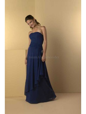 A-Line normale Taille Perlenbesetztes Elegantes Abendkleid