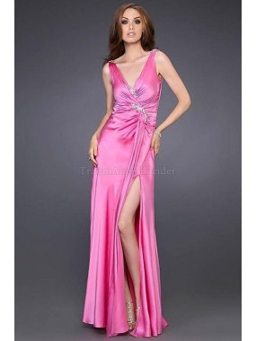 Normale Taille Apfelförmiges bodenlanges sexy Ballkleid