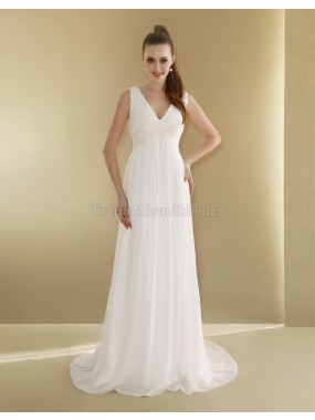 Spitze Sweep train normale Taille Elegantes Brautkleid