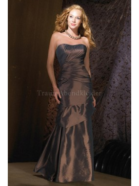 A-Line normale Taille Taft sexy Abendkleid