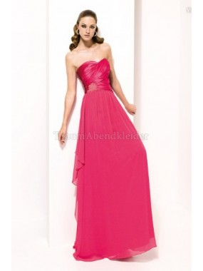 Zeitloses A-Line normale Taille Chiffon Abendkleid