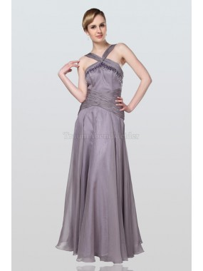 A-Line ewiges Sweep train Brautmutterkleid aus Chiffon