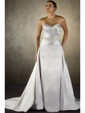 A-Line Satin modisches formelles Brautkleid