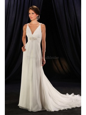 Empire Taille romantisches Modern legeres Brautkleid